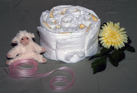 Undecorated Diaper Cake